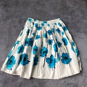 Dresses & Skirts - Skirt with Big Blue Flowers